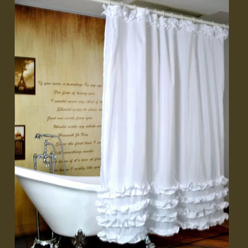 Compare Prices On Ruffle Shower Curtain Online Shopping Buy Low Price Ruffle Shower Curtain At
