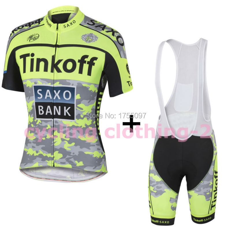 2015 fluorescence Tinkoff SAXO BANK sport Ropa Maillot Ciclismo Bike Cycling Jersey bicycle clothes MTB Cycle Shirt Pants suit(China (Mainland))