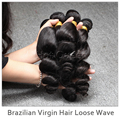 Free Shipping DHL 4PCS Unprocessed Brazilian Loose Wave Human Hair Extension Natural Color Brazilian Virgin Hair