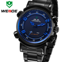 WEIDE Mens Sport Watches Top Brand Display System Of 12 Hours Or 24 Hours Water Resistant Alarm Repeater Hot Sale Male Watch(China (Mainland))