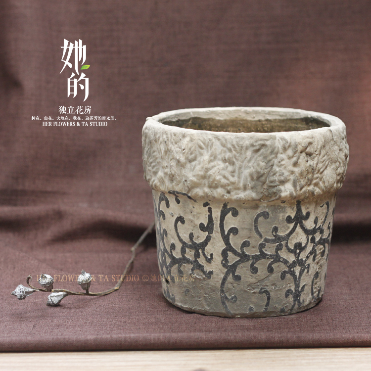 [ Her ] datura stoneware pots large fleshy flowers rose plants pots { Special }(China (Mainland))