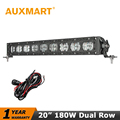 Auxmart CREE Chips 180W LED Light Bar 20 inch Led Bar Offroad 12V 24V Truck Camper