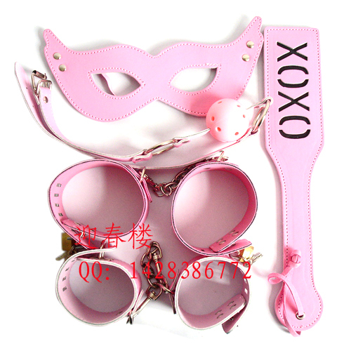 Free shipping sex games adult toys,hand cuffs ankle cuffs with lock blinder mouth gag and sexy pat as a novelty gift for her(China (Mainland))