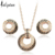 Iutopian Italina Elegant Geometric Style Rose Gold plated Jewelry Set Made High Quality #RG20011