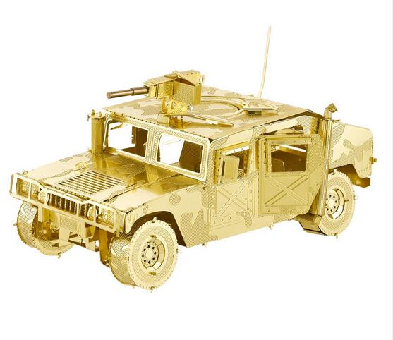 DIY 3D Puzzle Metal Earth 3D Laser Cut Model 3D Jigsaws DIY Gift scale models USA Hummer H1 juguetes toys brinquedo(China (Mainland))