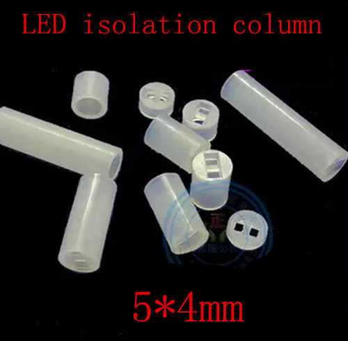 1000pcs/lot   5 *4mm  5MM LED Spacers / High 4MM lamp / light sets / Round led isolation column / gel column<br><br>Aliexpress