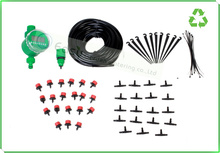 Spray and Drip irrigation system with digital timer. Micro irrigation.self irrigation for flower pot and hanging basket(China (Mainland))