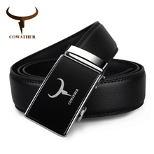 Buy COWATHER New arrival men's 100% genuine leather belts men high alloy automatic buckle strap male free for $9.89 in AliExpress store