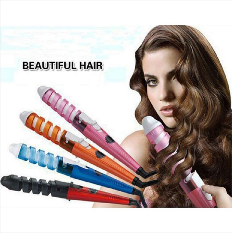 HOT! Magic Pro Perfect Hair Curlers Electric Curl Ceramic Spiral Hair ...