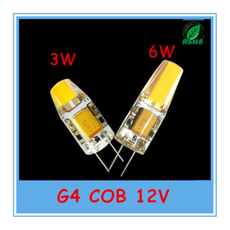 G4 COB LED Bulb 12V LED lamp 3W 6W 12V G4 COB crystal warm white / white(China (Mainland))