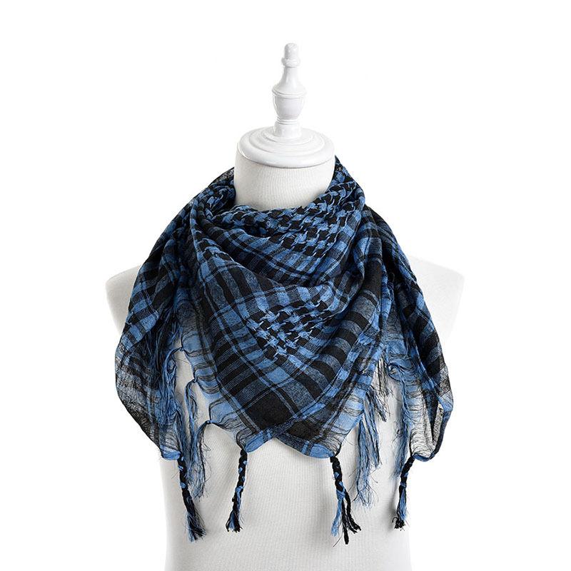 Hot Sale Unisex Women Men Checkered Arab Grid Neck Keffiyeh Palestine Scarf Wrap Polyester Scarf Shawl