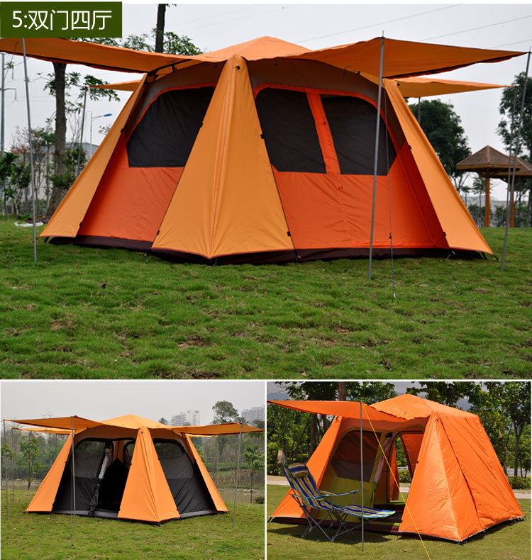 Alltel 5-8 people camping out door four seasons automatic tent double doors single layer<br>
