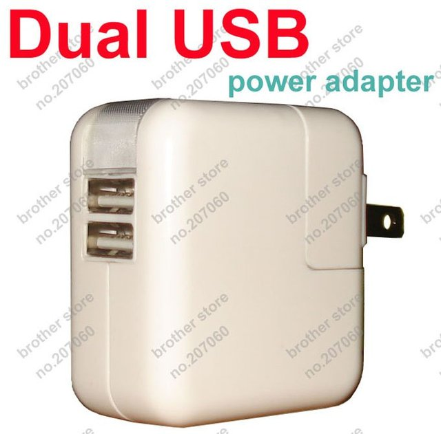 Dual USB Power Adapter 10W 5V 2.1A Wall Charger US Plug or EU Plug For iPhone 4 4s iPhone5 iPad iPad mini Tablet PC 50pcs/lot