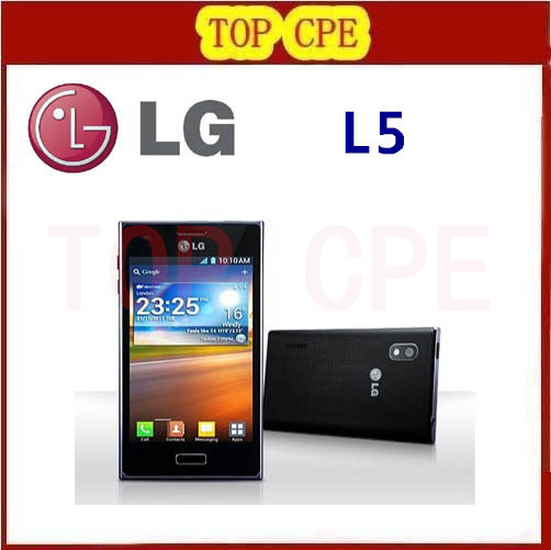 Refurbished E610 Original LG phone unlcoked LG Optimus L5 cell phone 5.0MP Camera 4G ROM+ 512M RAM 3G android phone(China (Mainland))