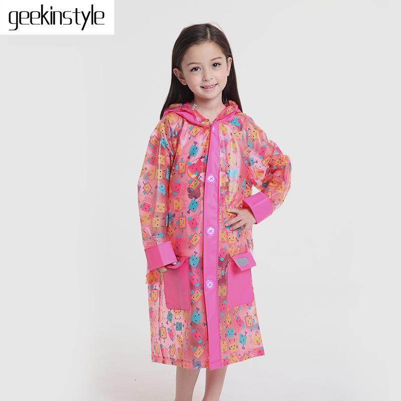 Capa De Chuva Sale 2016 New Inflatable Brim Rain Gear Kids Coat Raincoat Rainwear Rainsuit High Quality Waterproof Raincoats(China (Mainland))