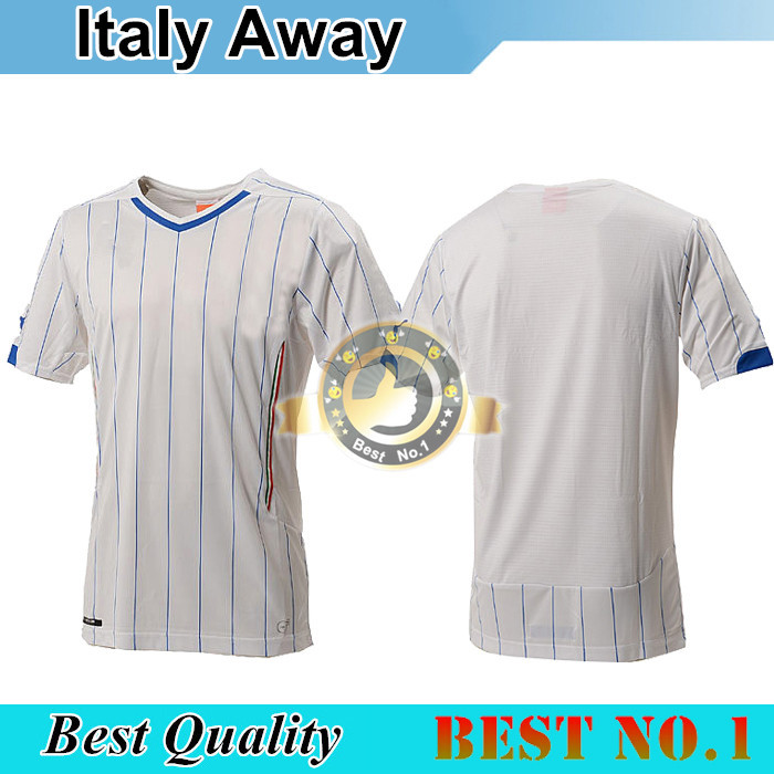 Top Quality Italy 2014 Home Away White Soccer Italy Jersey BALOTELLI PIRLO ITALIA Football Soccer jersey Beauty elements co(China (Mainland))