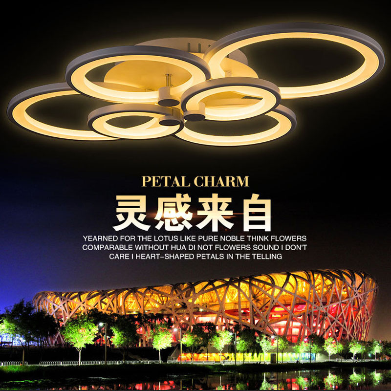 (WECUS) Special ! ! Personality living room ceiling lamp,creative fashion led ceiling lamp , luck ring series, 6 heads(China (Mainland))