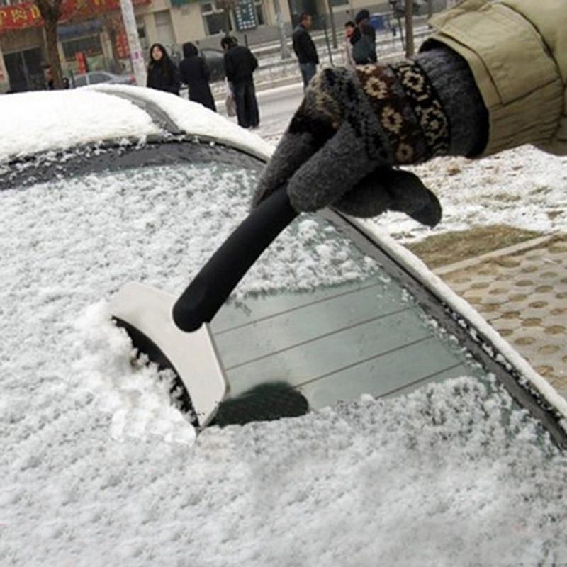 Мини-авто снег лед лопата скребок для удаления окна автомобиля льда очистка инструмента нержавеющая сталь + ABS е #