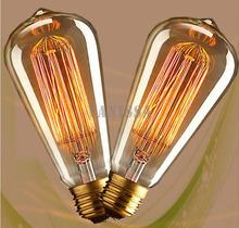Vintage Edison bulb ST64 incandescent light bulb E27 40W/60W 110/220V decorative light bulb filament bulb lighting tubes Edison(China (Mainland))