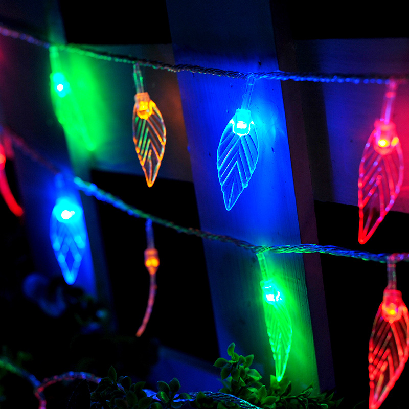 10M 100 LED Tree Leaves LED Lamp String Lights Decorative lights for bedroom Wedding party Garland Curtain Home decoration(China (Mainland))