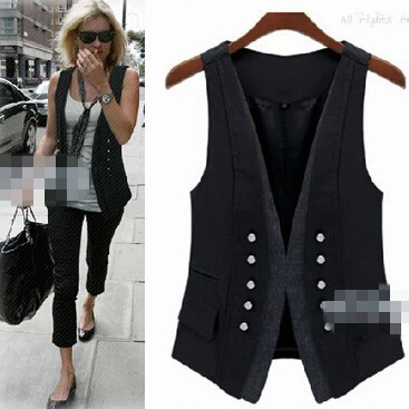 Popular Double Breasted Women Vest-Buy Cheap Double Breasted Women ...