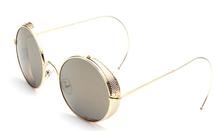 Vintage Steampunk Round Sunglasses Hipster