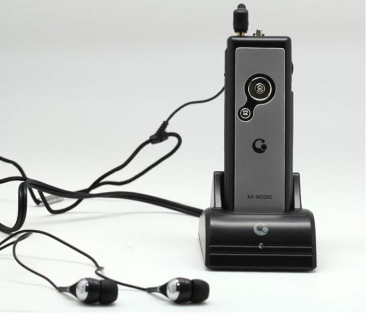 Model LSX-W026S Wireless Earphone Headset FM/RF Radio Transmitter+Receiver For TV DVD PC PSP HTC(China (Mainland))