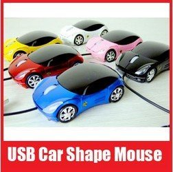 10pcs/lot Wholesale Car Shape USB 3D Optical Mouse Mice for Computer Laptop, Free Shipping