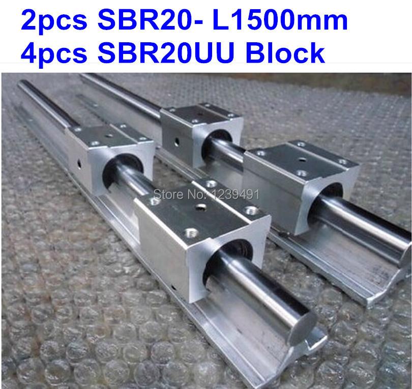 Линейные направляющие Other 2 L1500mm SBR20 + 4 SBR20uu линейные направляющие lz 2 sbr12 500 4 sbr12uu cnc diy