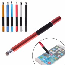 New Promotion 2 in1 Precision Capacitive Touch Screen Stylus Pen For iPhone Pad for Samsung Tablets Phones Wholesale Free Ship(China (Mainland))