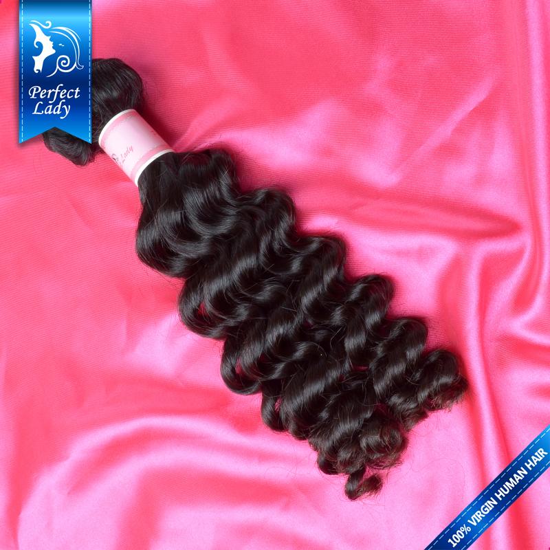 Perfect Lady 5A Brazilian virgin hair curly wave 1pcs Lot Remy Unprocessed brazilian hair weave bundles human hair extension(China (Mainland))