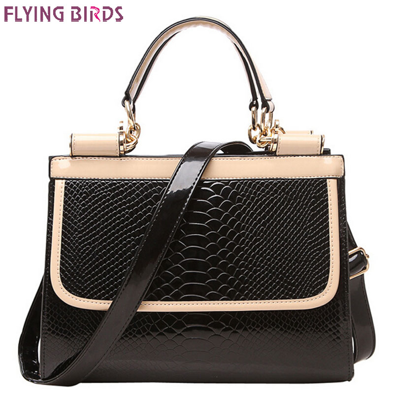 Flying birds! 2016 women leather handbag brands women messenger bags female bolsos crocodile pouch high quality bag LS8389fb(China (Mainland))