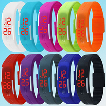 2015 Charming Wristwatches Unisex Men's Women's Silicone Red LED Sports Bracelet Touch Digital Wrist Watch