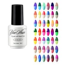 Yaoshun 8ml UV Soak Off Temperature Change Nail Gel Polish Hot Sale Nail Art Salon Varnish Perfect Summer LED Long Lasting Gel