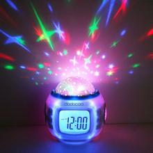 Music Starry Alarm Projection Clock Star Sky Calendar Thermometer with retail package Drop shipping Best gift Free Shipping(China (Mainland))