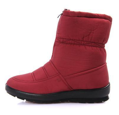 Front Zipper Thermal Slipresistant Mother Shoes Flat Heel ...