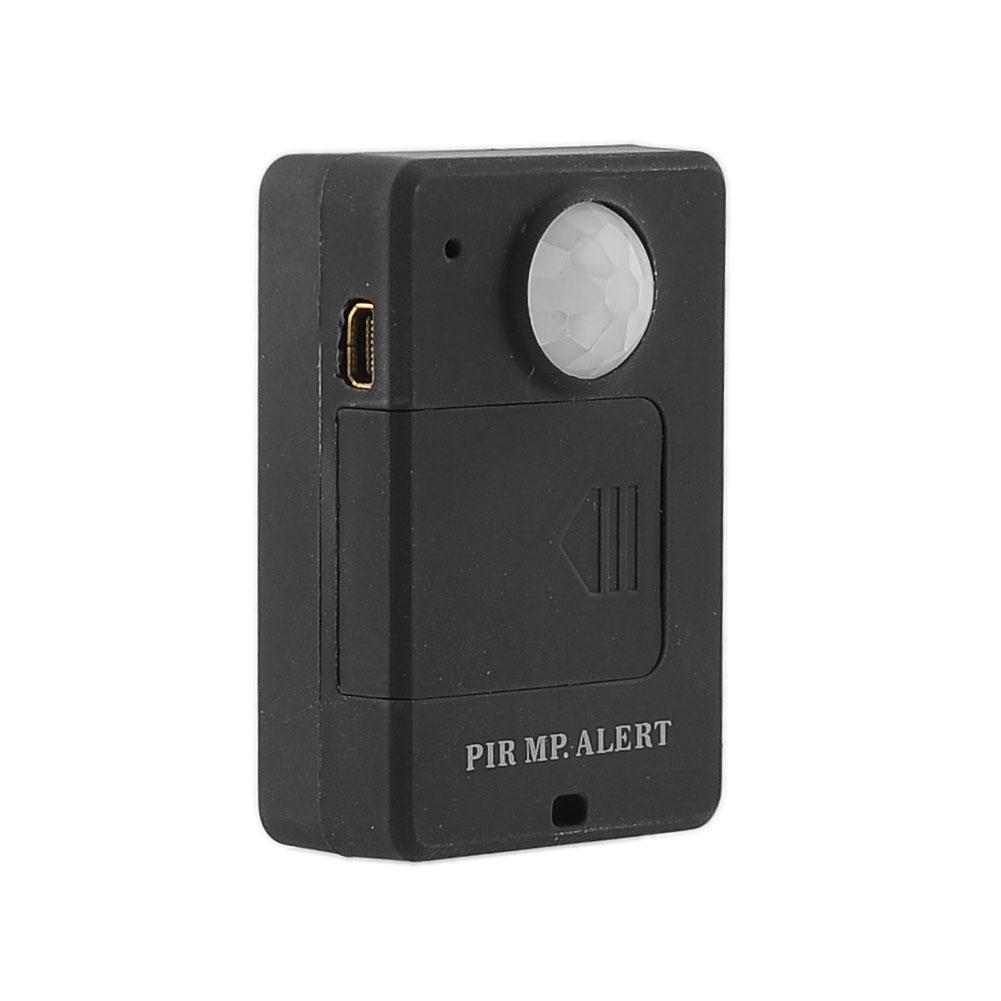 1pcs Mini Infrared Sensor Motion Detector GSM Alarm Monitor Wireless Black 5-8m Free shipping(China (Mainland))