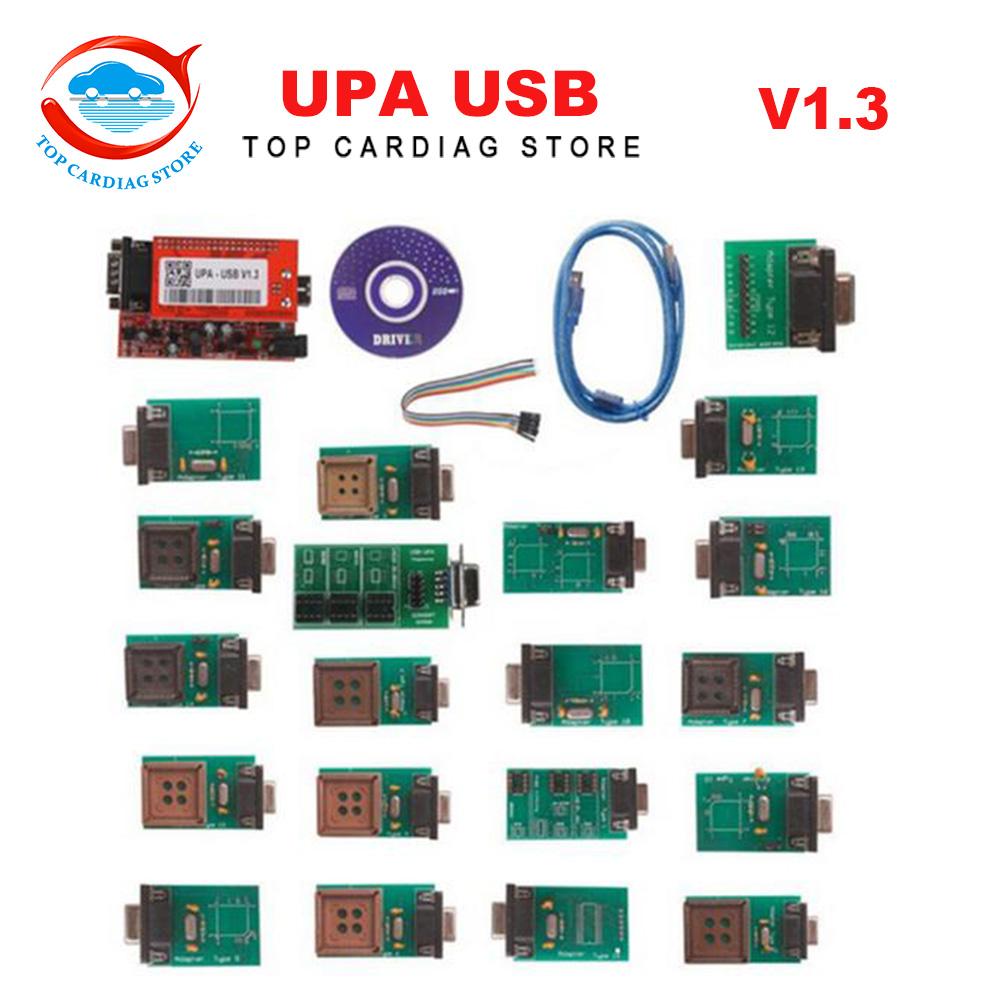 2016 New Arrival UPA-USB UPAUSB UPA USB Programmer With Full Adaptors V1.3 ECU Chip Tunning OBD2 Diagnostic Tool + Free Shipping(China (Mainland))