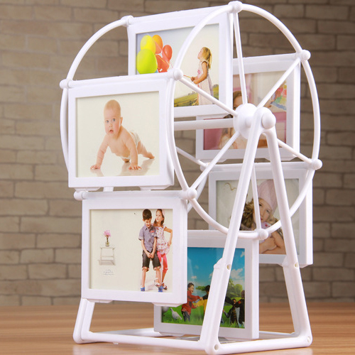 New Baby Frame 6 Photos of 4 inch DIY for Combination assembly best love gift Desktop Frame of Sky Wheel 25.5CM high(China (Mainland))
