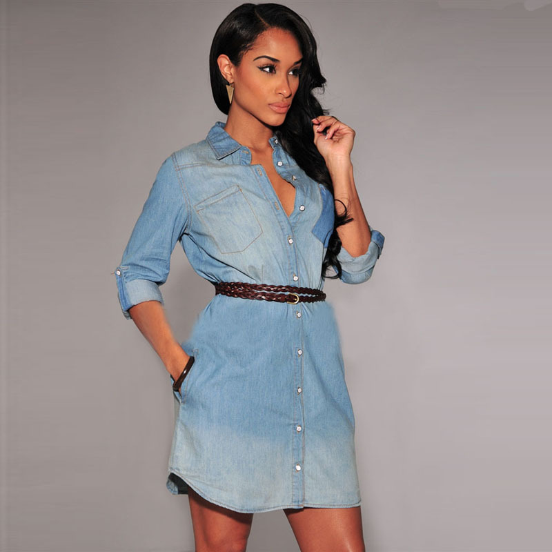 Женское платье Fashion dress vestidos 2015 women denim dress женское платье summer dress 2015cute o women dress