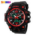 SKMEI 1155 Fashion Men Digital LED Display Sport Watches Quartz Watch Relogio Masculino 50M Waterproof Dual