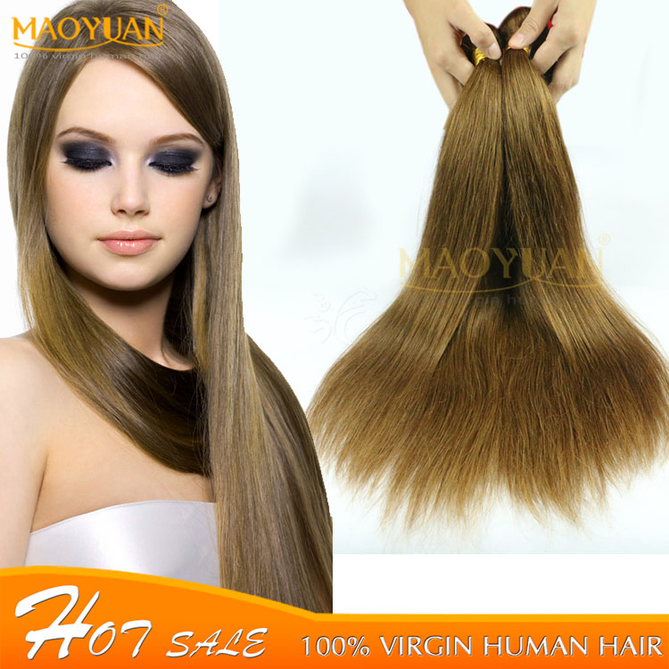 3pcs Human Hair Bundles 7A Brazilian Human Hair Sew in Weave 8# Medium Golden Brown Brazilian Virgin Hair Straight By DHL Ship<br><br>Aliexpress
