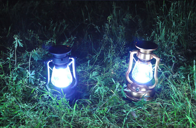 Portable 7LED Bright Solar Panel Lamp Rechargeable Hand Crank Outdoor Camping Lantern Holiday Hiking Fishing Lights Lamp