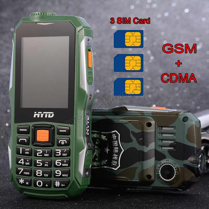 Russian Arabic big Soud shockproof 10800mAh Three SIM Cards dual-bands Tachograph Vibration torch power bank mobile phone P237(China (Mainland))