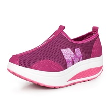 Free shipping 2014 New arrival Women slimming Athletic Shoes, breathable Sports Running Shoes,Swing Walking Shoes