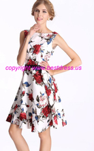 free shipping New Rosa Rosa 50's style Red White Floral Rockabilly Party Dress