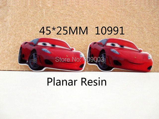 50Y10991 Free Shipping 45*25mm flat back cartoon car planar resin for diy holiday decoration crafts accessories 50pcs/lot(China (Mainland))