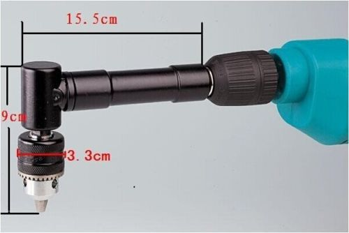 Details about Aluminium Right Angle drill attachment power tool accessory keyed chuck