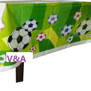 1pc Green Football Theme Happy Birthday Party Decoration Kits Supplies Soccer Ball Table Cloth Covers(China (Mainland))