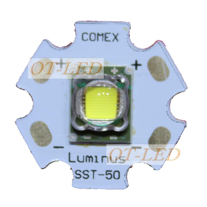 Freeshipping!1pcs 10W 20MM Luminus PhlatLight SST-50 Bright White LED Light for Bulb Torch 1300-1500LM<br><br>Aliexpress